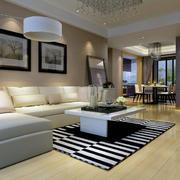 现代实木沙发整体图