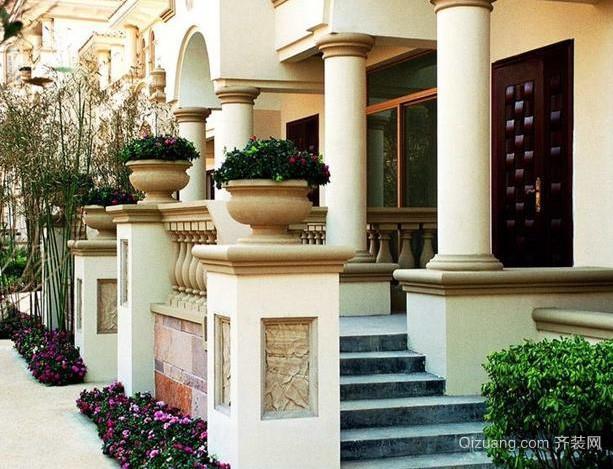 美式简约风格别墅庭院装修效果图设计
