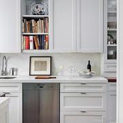 欧式简约房屋2层简约白色厨房设计