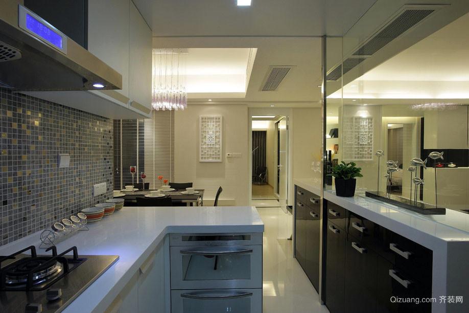 2015简约现代化的厨房装修效果图
