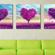 客厅紫色装饰画