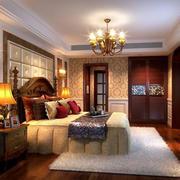 美式简约风格室内卧室背景墙
