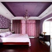 大户型卧室紫色装饰