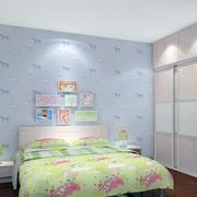 儿童房背景墙图案