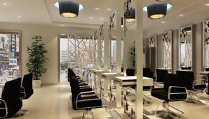 顾客都喜欢的中型美发店装修效果图
