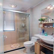 2层小洋房浴室洗脸台设计