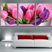 客厅紫色沙发装饰