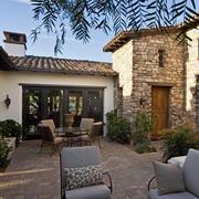 美式别墅庭院休息沙发设计