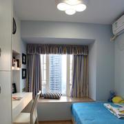 中式风格飘窗窗帘图片