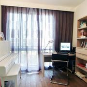 2层典雅书房窗帘设计