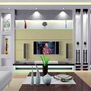 客厅紫色电视墙