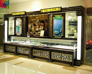 现代商场珠宝展示柜装修效果图