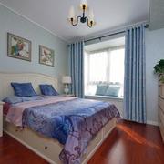 美式新款卧室简约窗帘设计