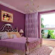 卧室紫色装饰设计