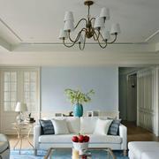 房屋客厅石膏线吊顶