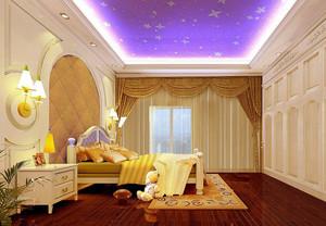 卧室紫色吊顶展示