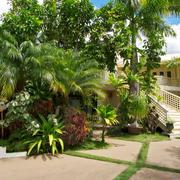 庭院简约风格绿化效果图