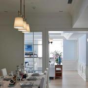 房屋白色简洁餐厅
