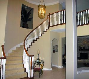大户型室内实木楼梯装修效果图