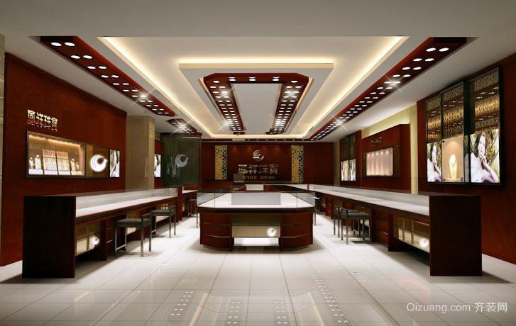 专卖黄金的大型店铺装修设计效果图