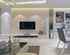 欧式大户型客厅电视墙设计效果图