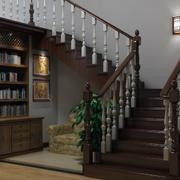 唯美的楼梯背景墙图