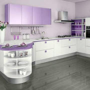 紫色浪漫的厨房