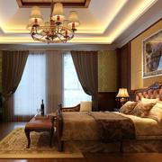 美式深色系室内卧室背景墙装饰