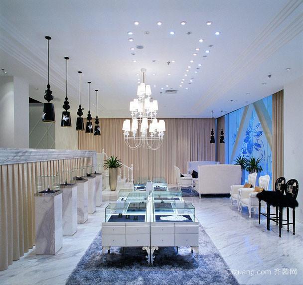 摩登高级珠宝店面装修设计效果图