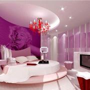 卧室整体紫色设计
