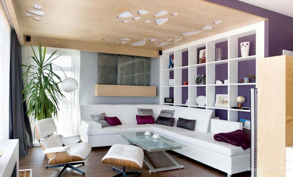 浪漫神秘的客厅紫色背景图片大全