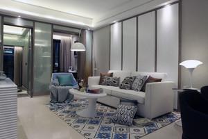 2层欧式大户型客厅白色沙发设计