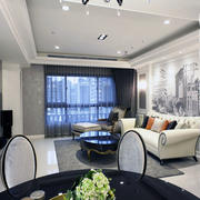现代新中式简约客厅白色沙发