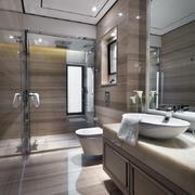 别墅实木质地卫生间设计