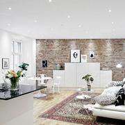 现代化白色简约2层别墅客厅沙发