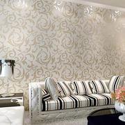 米白色客厅壁纸背景