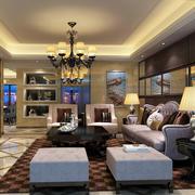 暖色系客厅设计效果图