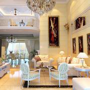 复式别墅客厅背景墙设计