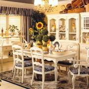 餐厅温馨田园餐桌椅