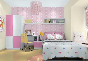 浅粉色儿童房装饰