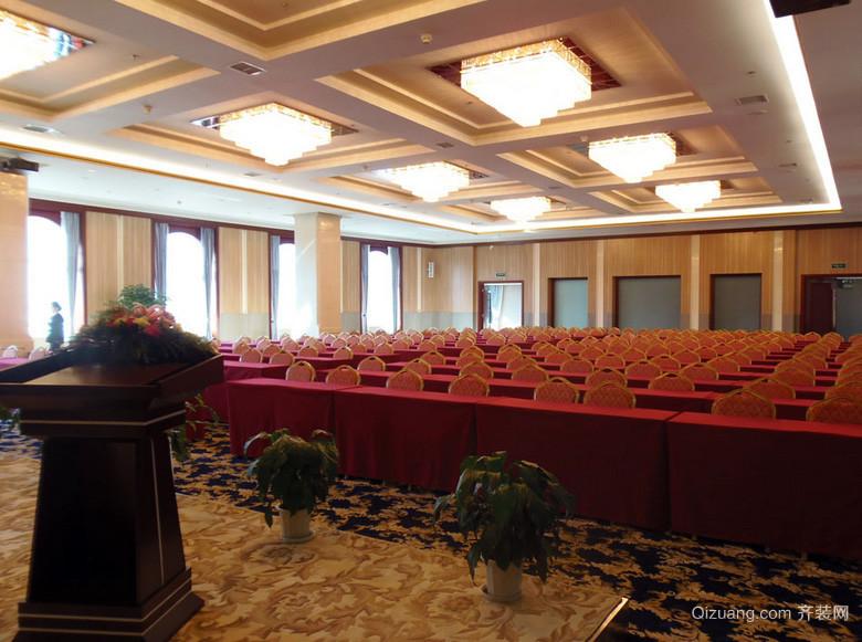 设备齐全大型会议室装修效果图