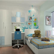 蓝色精致的儿童房