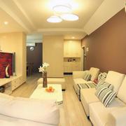 别墅原木型暖色客厅