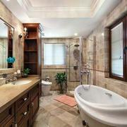 美式卫生间简约风格浴缸装饰