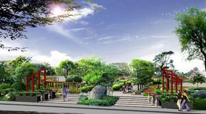 风景秀丽的人民公园设计效果图