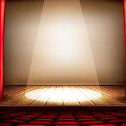 暖色调舞台灯光设计