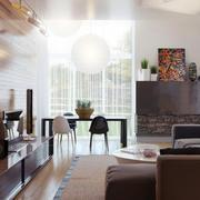 美式简约原木客厅家居设计