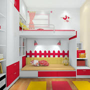 靓丽色彩田园卧室
