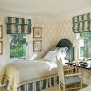 卧室田园风格背景墙设计
