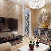 客厅奢华风格电视背景墙装饰